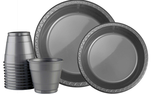 Silver  sc 1 st  Lombard Party Supplies & Coloured Tableware Table Covers Supplies Cups u0026 Plates- Lombard