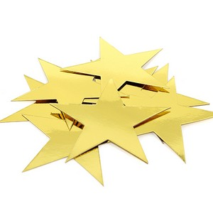 cut out star 300mm gold cardboard pk5 party decorations lombard