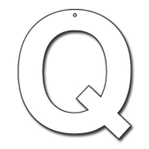Cut Out Letter Q Cardboard Ea