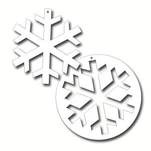 Cut Out Snowflake Large Ea