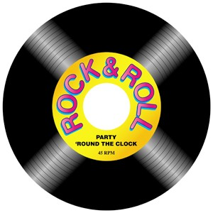 cut out record rock n roll ea party supplies decorations