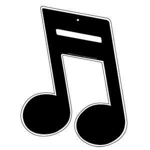 cut out music note double base ea party supplies decorations