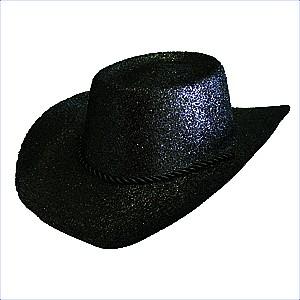Hat Cowboy Glitter Black Ea fa13e92f59ee