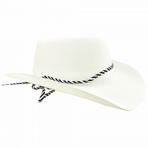 Hat Cowboy Flocked White Ea 160c03daf9ee