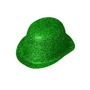 ad4282a1f28 Hat Bowler Glitter Green Ea
