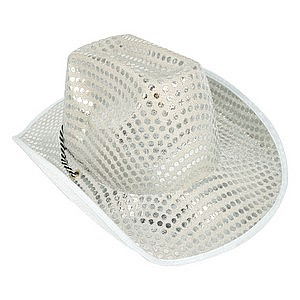 24ee5357504 Hat Cowboy Silver Sequined Ea