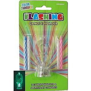 Candle Spiral 55cm With Flashing Holder 9 Pk 5