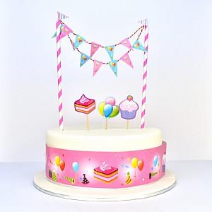Cake Topper Kit Cupcake Pk 5