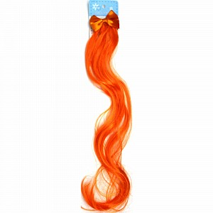 Hair Extension Curly With Bow Orange Ea