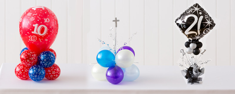 Party Balloons Foil Latex Helium Lombard Table Decorations For A Birthday Decorating Ideas